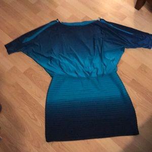 Two toned ombré dress
